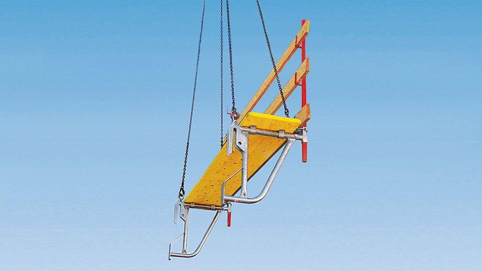 ASG 70-100 Bühne mit 39 mm starkem, mehrfach verleimten Bühnenbelag.