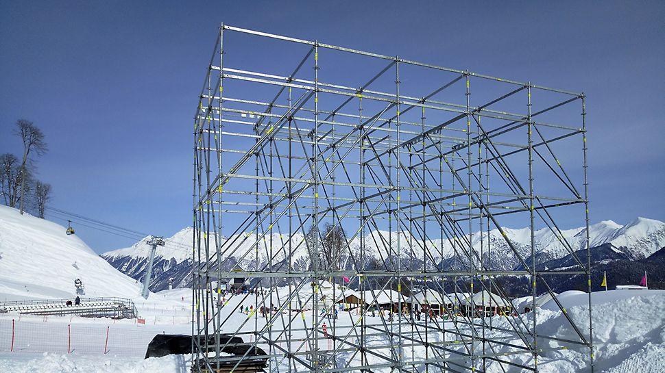 event, Сочи, леса для мероприятий, аренда строительных лесов, башня для аппаратуры