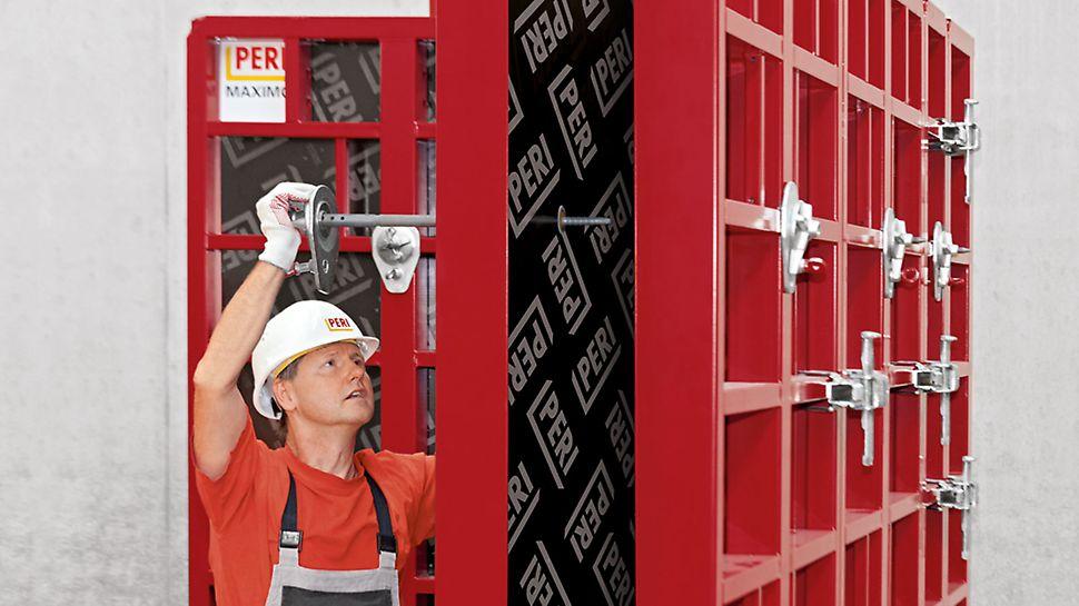 MX formstagsteknik är utvecklat av PERI. Arbetet utförs från en sida och kan skötas av en person, vilket förenklar arbetet och sänker kostnaderna