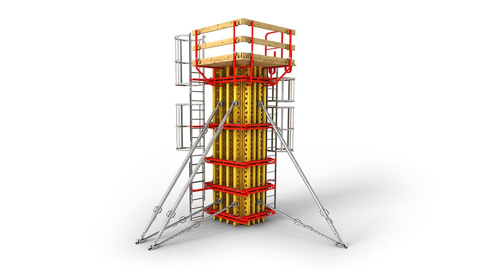 Балочно-ригельная опалубка для колонн любой высоты и сечения.