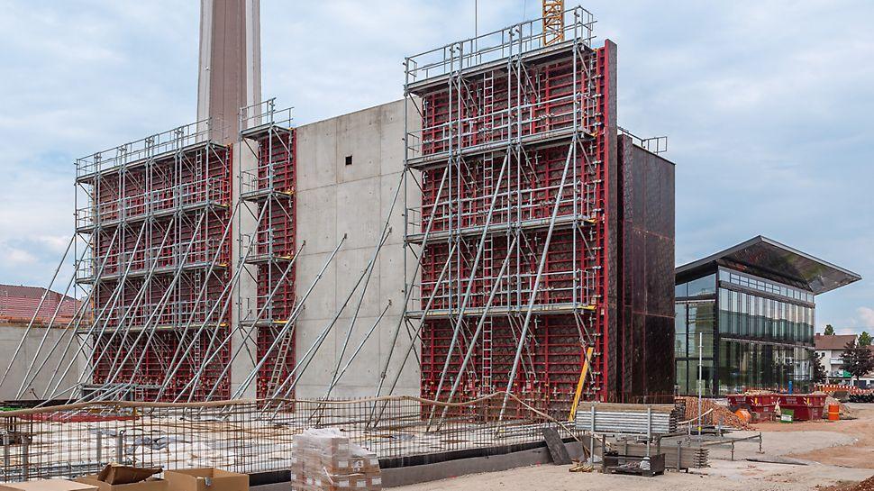 MAXIMO Wandschalungssystem im Einsatz beim Bau des Kärcher Kundenzentrums in Winnenden.