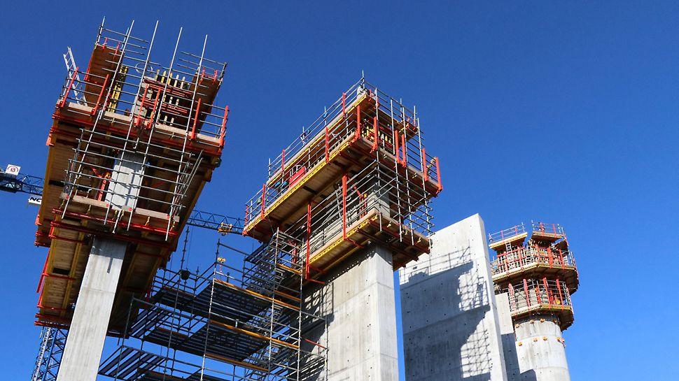 Nya vattentornet i Helsingborg - Gjutning av betongpelare