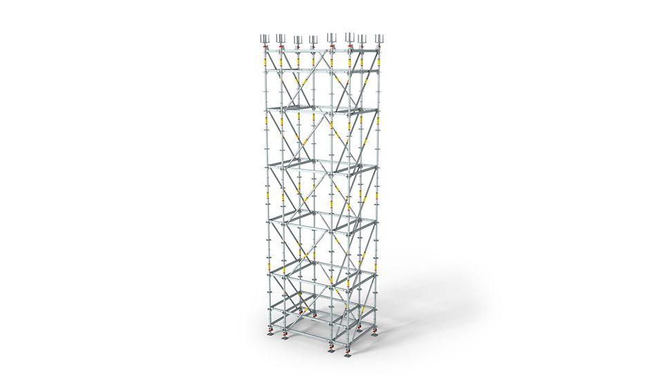 Гибкая регулировка по высоте для опалубочных столов.