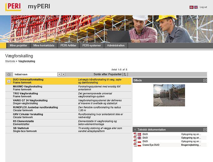 Brugervejledninger og andre vigtige dokumenter kan downloades med et klik.