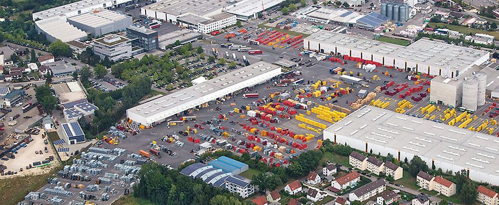 Vue aérienne de la filiale de PERI à Weißenhorn