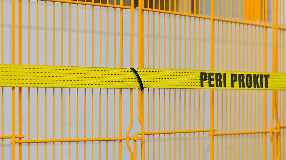 Kabelbinder PCT dienen zur Befestigung der Faltgitter an den Spanngurten. Sie sind auf das System abgestimmt und UV-beständig.