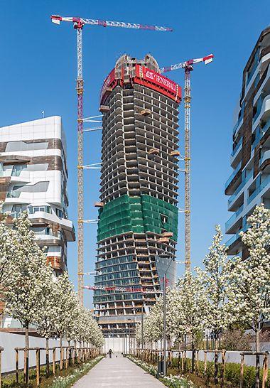 170 m visoka poslovna zgrada nosi – kao i rezidencijalni deo milanskog CityLife-projekta – potpis nedavno preminule vrhunske arhitekte Zahe Hadid.