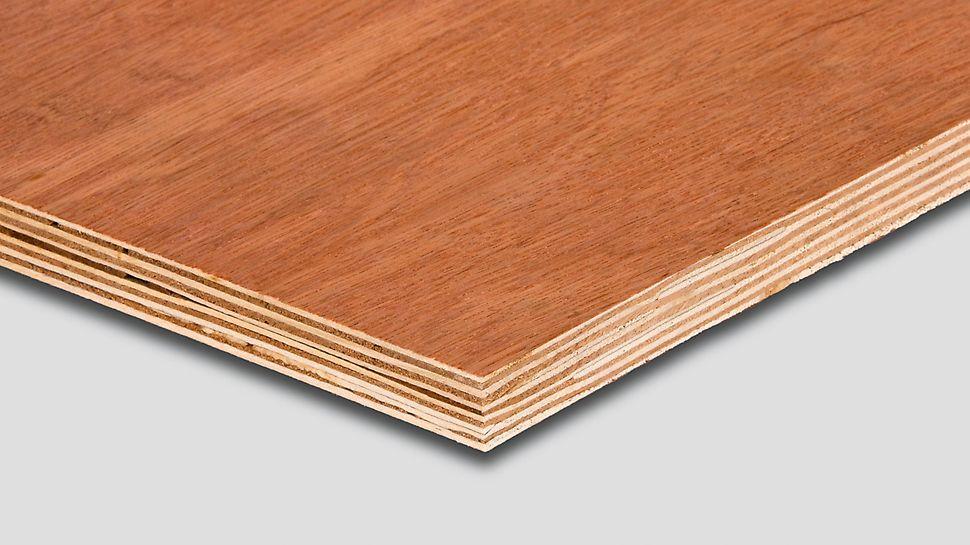 O painel de madeira Bintangor é um contraplacado simples importado da PERI