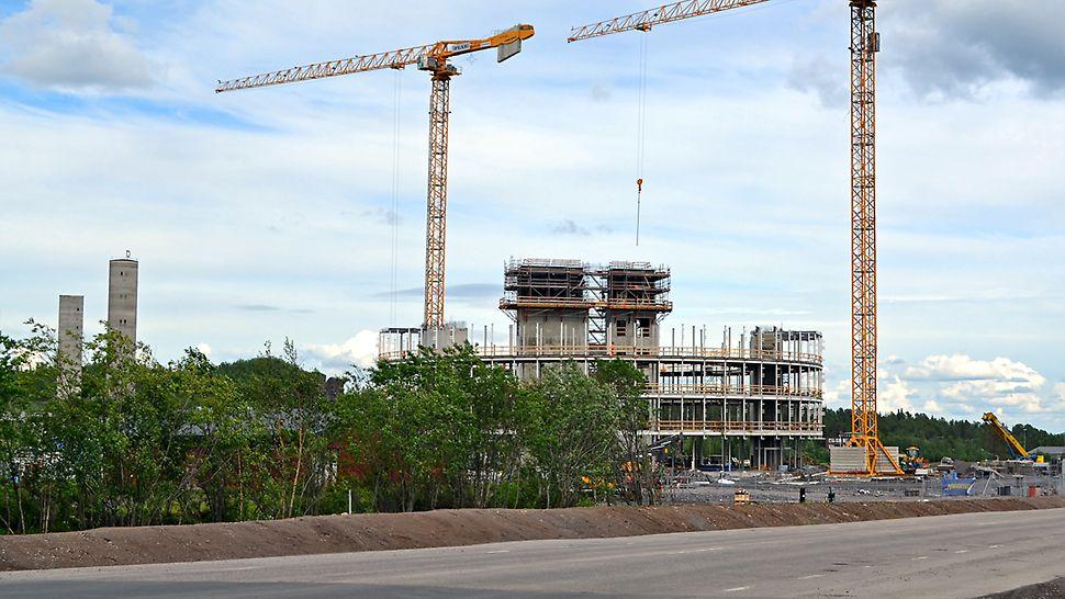 Kirunas nya stadshus växer nu fram i snabb fart.