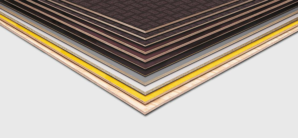 PERI panel selection: coated, natural, film coated, wiremeshed