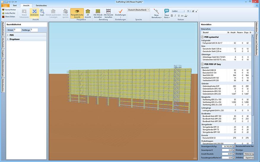 Gebäudemodelle werden schnell konstruiert und können assistenzgestützt eingerüstet werden.
