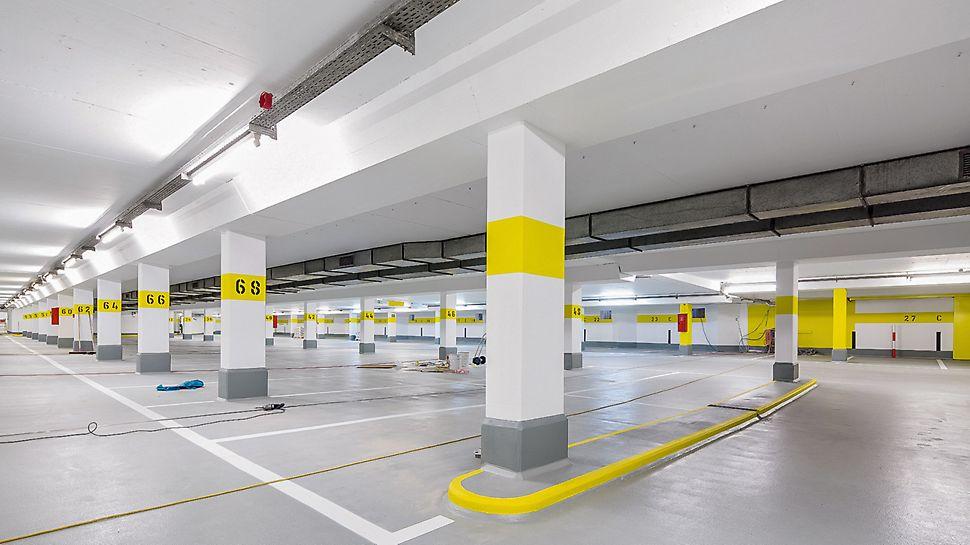 """Die Parkgarage """"Lechstraße"""" in Landsberg nach Abschluss der Sanierungsmaßnahmen im April 2016."""