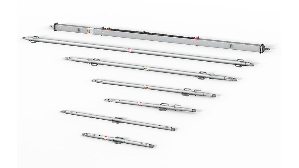 RS Etais de réglage : une gamme complète télescopique jusqu'à 14,00 m