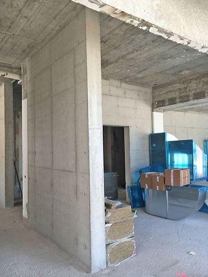 Wand im EG, betoniert mit SCC - Beton