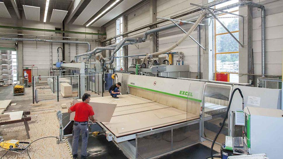 La progettazione dei negativi 3D e i disegni di montaggio delle casseforme sono realizzati con il software PERI CAD che fornisce i dati necessari per il taglio dei pannelli con macchine CNC