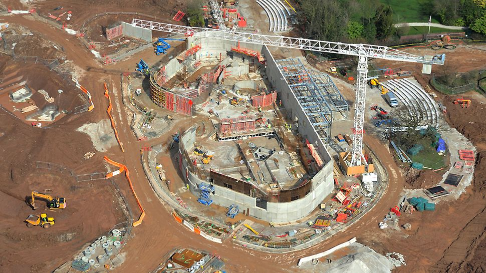 Different PERI wall formwork systems used to construct new tropical enclosure at Chester Zoo