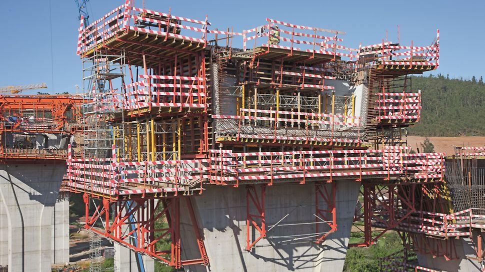 Ponte sobre o Rio Uima - Segurança dos trabalhos a grandes alturas
