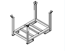 Pallet RP-2, for stacking and transportation of components