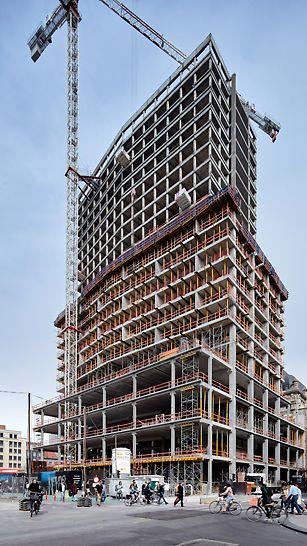 De vernieuwde Antwerp Tower wordt met 26 verdiepingen en een hoogte van 100,7 m het tweede hoogste gebouw in Antwerpen.