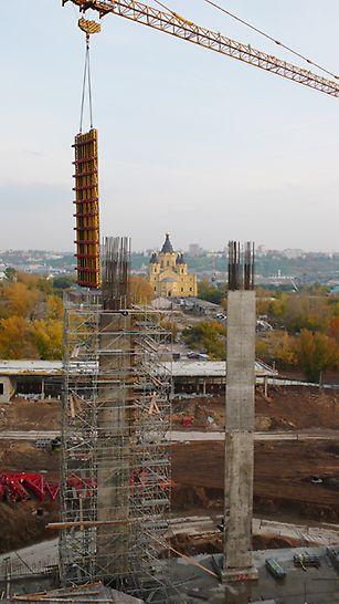 стадион нижний новгород, чм по футболу, футбол 2018, перемещение опалубки
