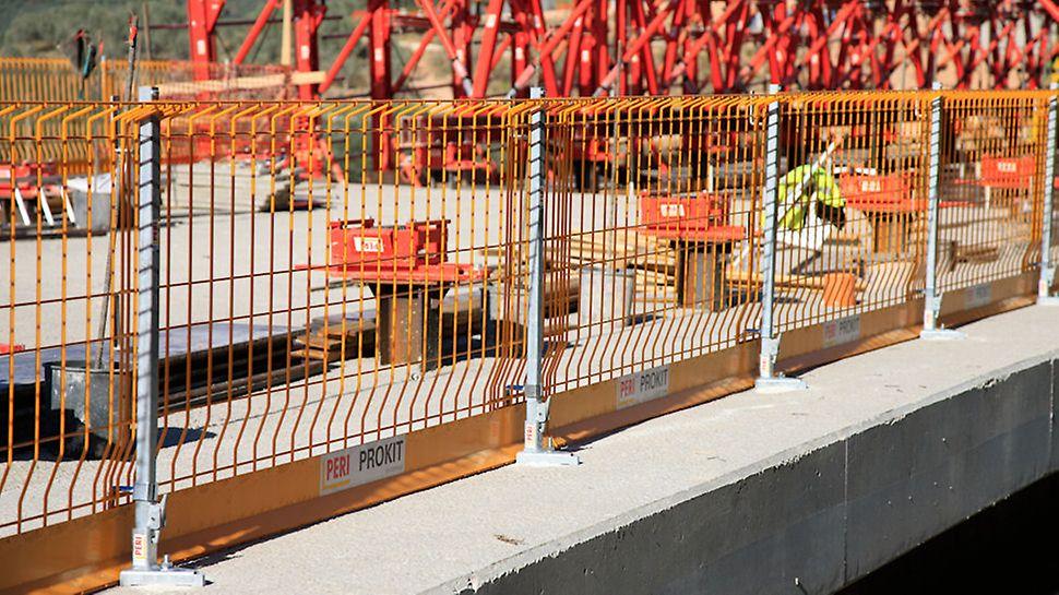 Viadotto San Lorenzo, sistema di sicurezza PERI PROKIT EP 110