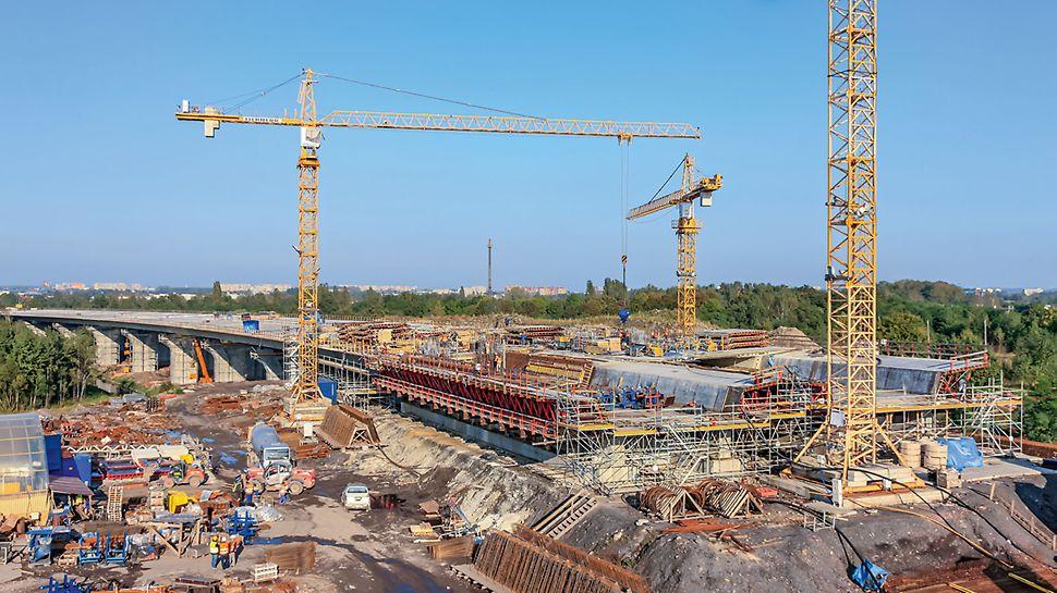 Überführung WA 458 über die Autobahn A1, Gliwice, Polen | Durchdachte Lösung ermöglichte Einhaltung des geplanten Bauzeitenplans und Budgets