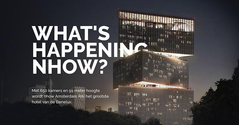 Het RAI hotel zal vanaf midden 2019 de skyline van Amsterdam sieren. Bron foto: www.buildingnhow.amsterdam