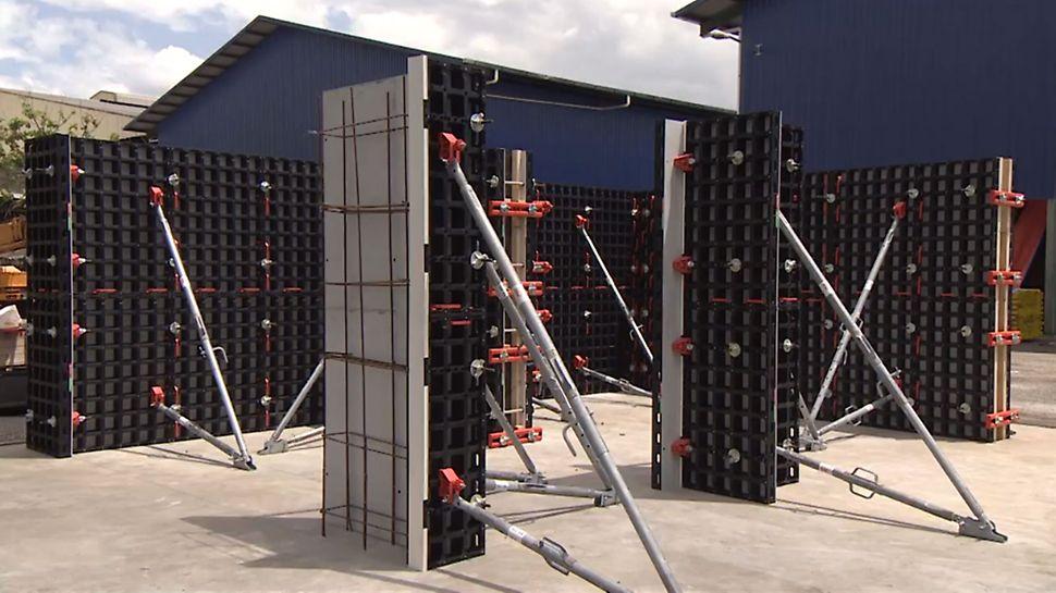 DUO è l'innovativo sistema presentato da PERI al bauma2016. Si tratta di un particolare tipo di cassaforma utilizzabile per pareti, pilastri e solai. È molto leggera, movimentabile a mano e la riparazione dei suoi componenti può essere fatta direttamente in cantiere.
