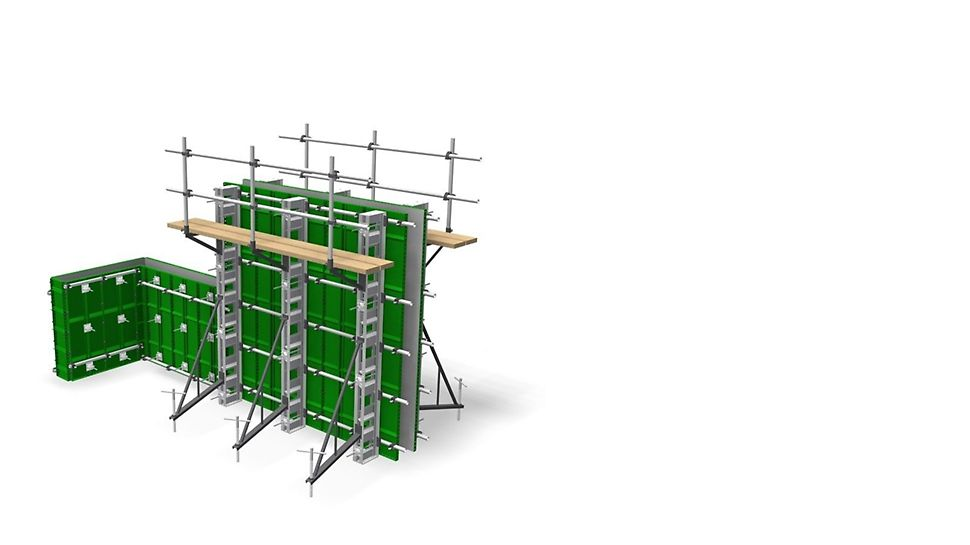 ECONOMYFORM Wall Formwork - Flexible wall formwork with a variety of panel sizes and components allowing for any forms to be made