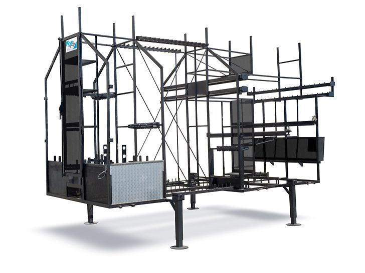 Leere Transportvorrichtung für den Lagerung von bis zu 250 m² Gerüstmaterial PERI UP Easy 67