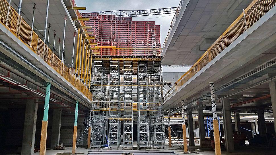 Systemy deskowań i rusztowań podporowych PERI optymalnie dobrano do każdego zadania budowlanego Galerii Północnej w Warszawie