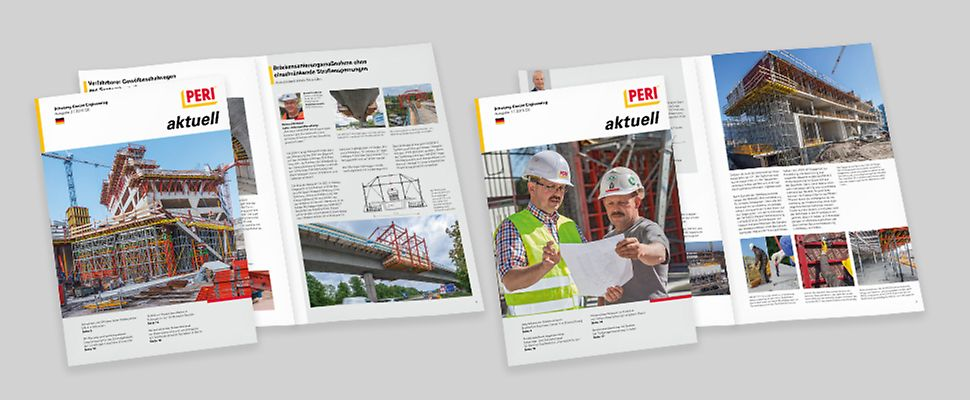 PERI aktuell erscheint 2 Mal im Jahr. Das Magazin informiert über PERI Projekte aus dem Schalungs- und Gerüstbereich und zeigt, welche Produkte und Dienstleistungen zur Lösung der jeweiligen Aufgabe eingesetzt wurden. Zusätzlich berichten wir immer wieder über Produktneuheiten, Messen und viele weitere Themen.