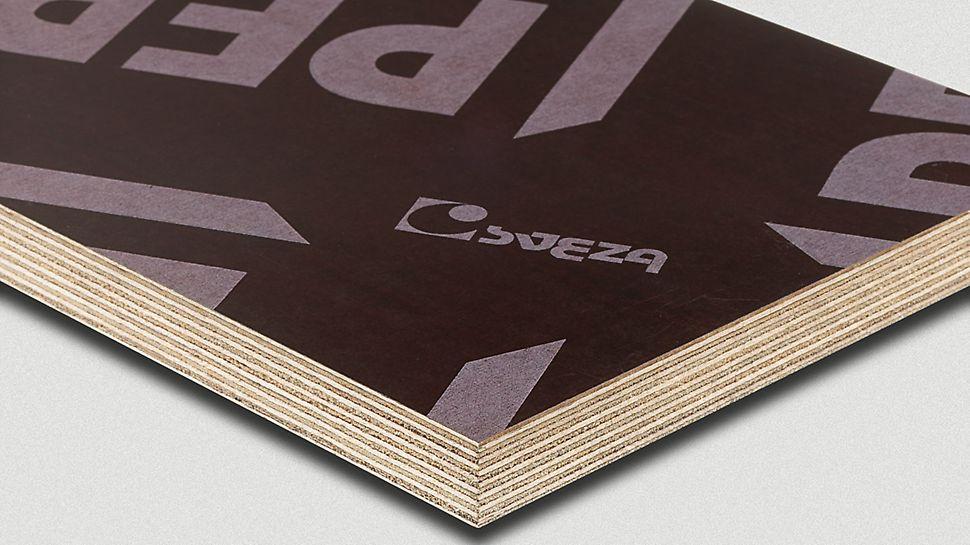 El RusPlay es el tablero de encofrado robusto para superficies de hormigón visto lisas
