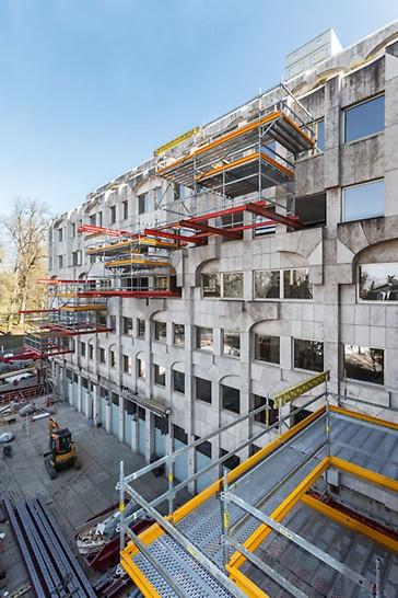 Progetti PERI, ristrutturazione dell'Hotel Le Royal: piattaforma a sbalzo per accelerare la ristrutturazione