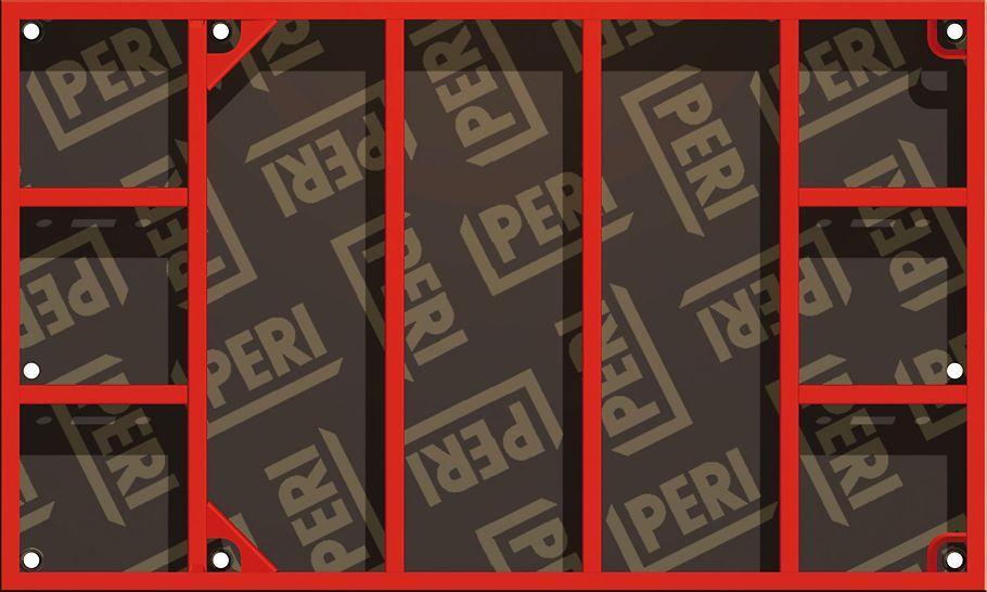 DOMINO elementer er meget anvendelige til forskaling av fundamenter. Spesielt panelhøyde på 1,25 m med intrukne stagplassering er en fordel her, da de kan benyttes veldig fleksibelt. PERI forskaling domino panel panelforskaling