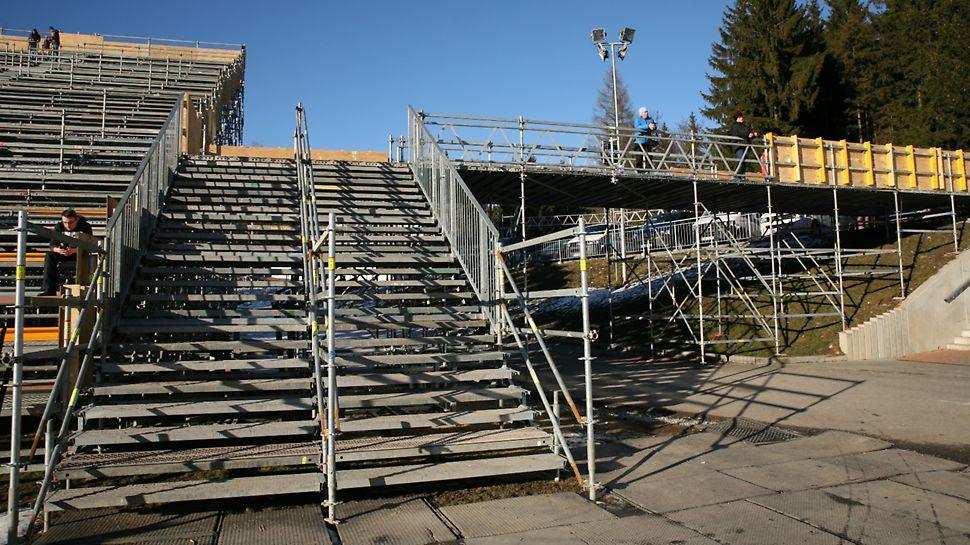 BMW IBU World cup Biathlon, Nové Město na Moravě: Přístup k mobilní tribuně.