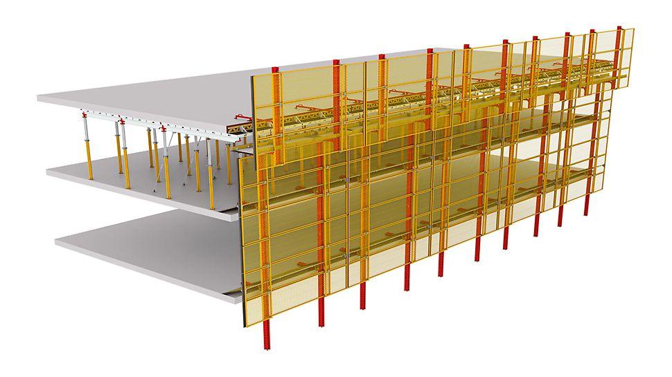 Легковесные подъемно-переставные защитные панели