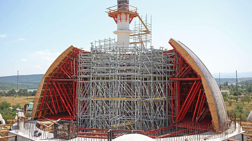 Формообразующая опалубка, 3д опалубка, 3д короба, монолитный купол, соборная мечеть, крым