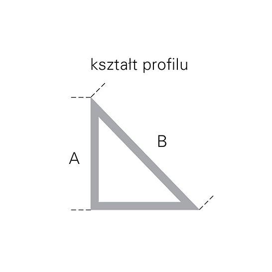 Listwa trójkątna L = 2,5 m: kształt profilu