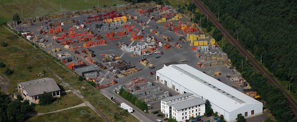 Luftbild PERI Niederlassung Berlin | An der Bahn 1 | Ortsteil Saarmund | 14558 Nuthetal