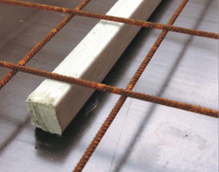 Concrete bar spacer, to ensure the maintenance of specified cover to the reinforcement