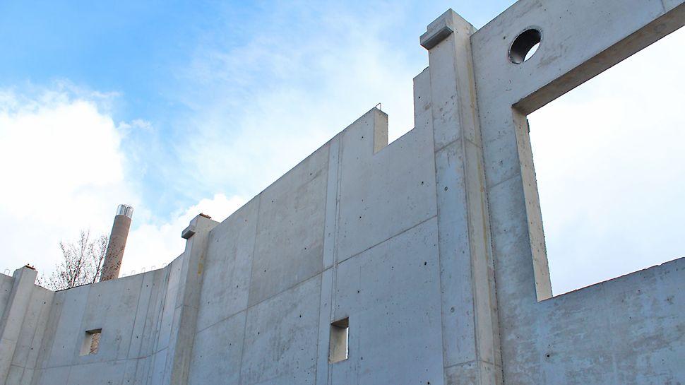Suurimmat kertavalukorkeudet olivat tällä työmaalla noin 9 metriä.