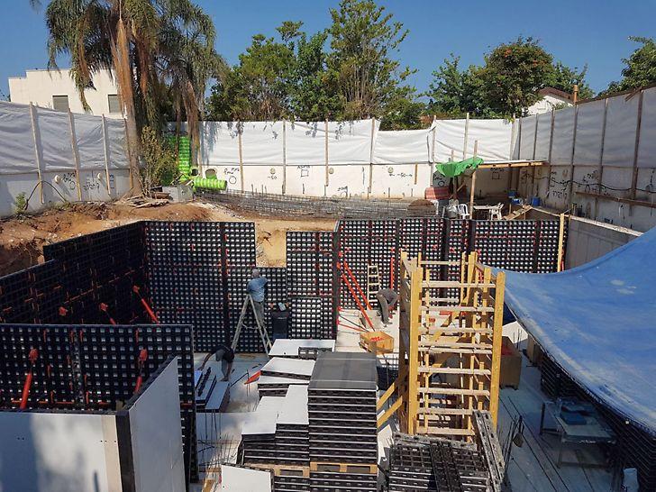 מערכת דואו תבניות מודולריות קלות ליציקת קירות