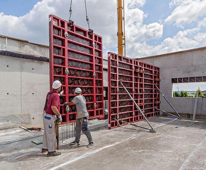 Le coffrage cadre MAXIMO a permis d'optimiser les résultats produits par le béton et d'accélérer le processus de coffrage.