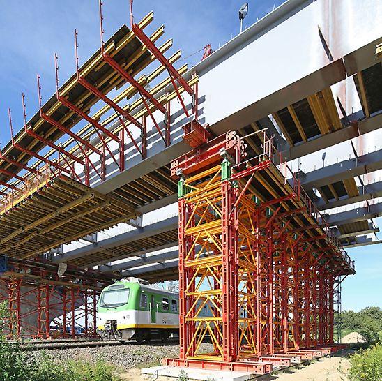 Istotną zaletą systemu wież VST jest możliwość dowolnej konfiguracji stojaków, która umożliwia najefektywniejsze dopasowanie do podpieranej konstrukcji.