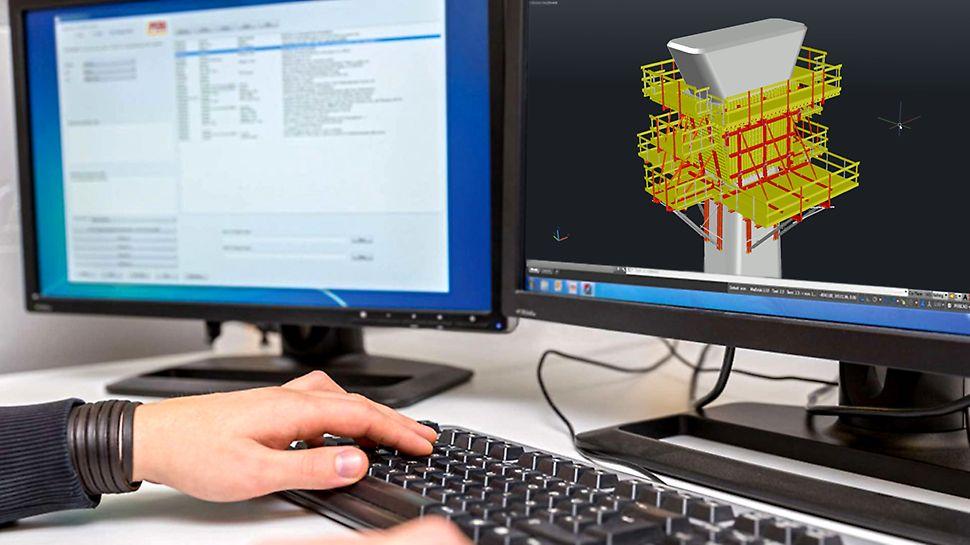 Mit PERI CAD können Schalungen aller Art gezeichnet werden. Die Planung erfolgt in 2D oder bei komplizierten Geometrien auch in 3D.