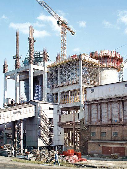 Tvornica cementa Ivano-Frankowsk, Ukrajina - za proširenje tvornice cementa ukrajinski PERI inženjeri razradili su sveobuhvatno, tehnički usavršeno rješenje oplate i skele.