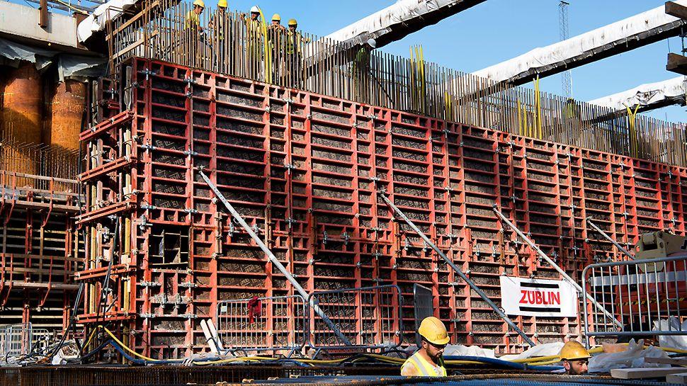 540 m² TRIO väggform används för innerväggarna