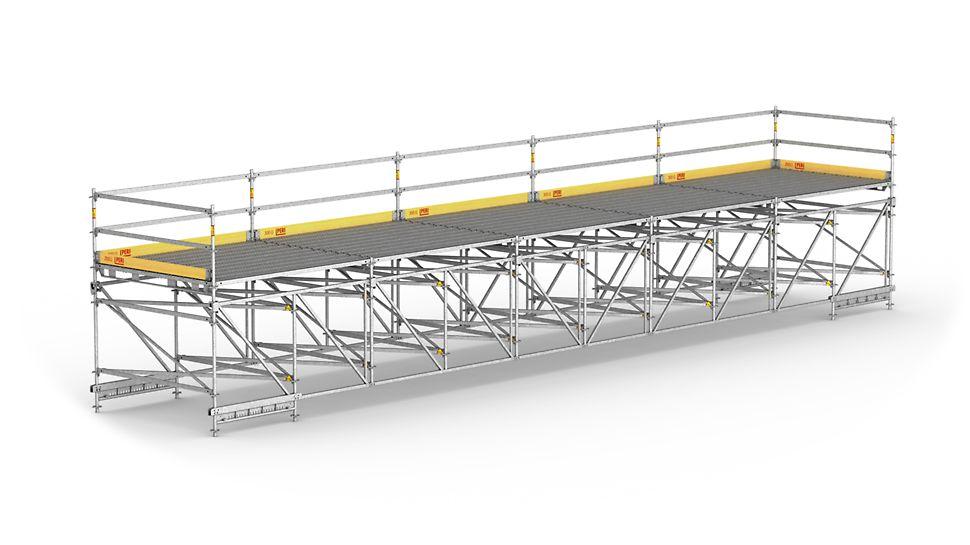 Для большепролетных рабочих конструкций и временных пешеходных мостов