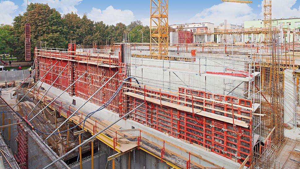 System TRIO wykorzystany do realizacji ścian rampy.